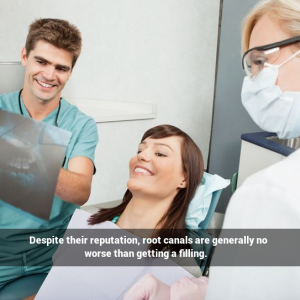 Despite their reputation, root canals are generally no worse than getting a filling.