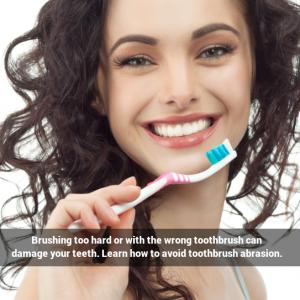 Preventing toothbrush abrasion