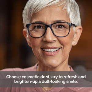 Cosmetic dentistry helps a senior woman smile confidently