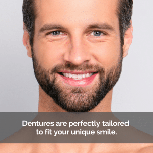 Man with a beard smiling with straight white teeth